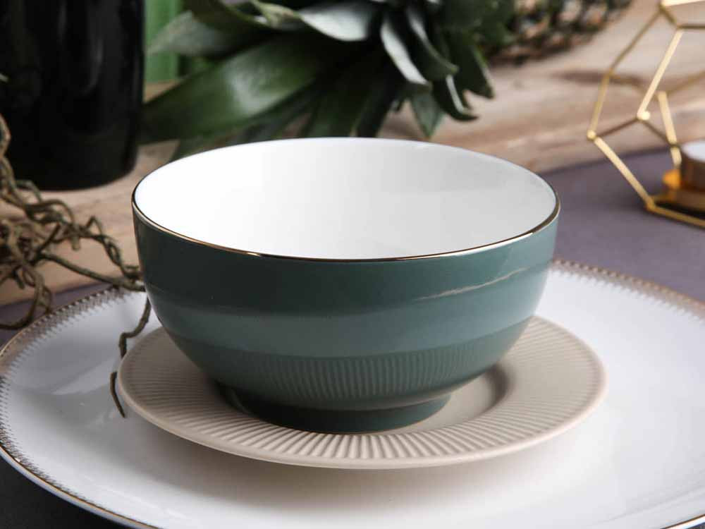 Miska / salaterka porcelanowa Altom Design Monokolor Urban Gold 14 cm