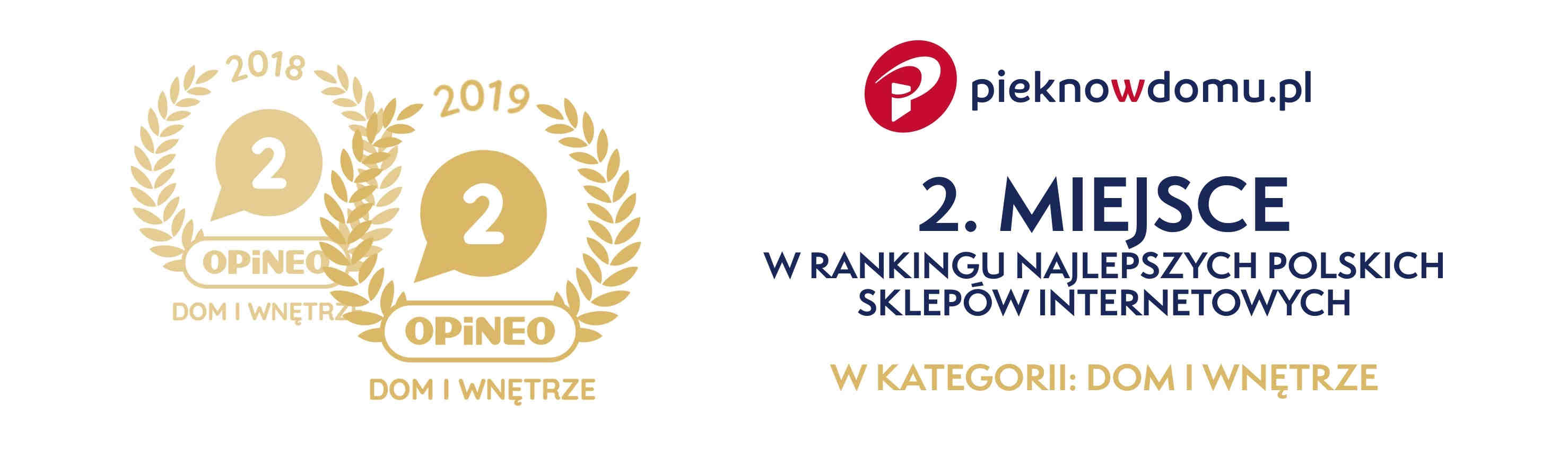 Pieknowdomu.pl w rankingu Opineo 2019